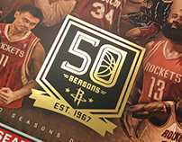 Houston Rockets 2016'17 50th Anniversary Campaign
