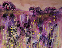 Through Purple Meadows by Tracy Butler Art
