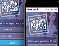 Monster Hiring Homepage