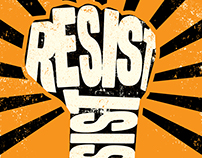 Resist/Persist Protest signs