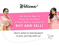Elanic Welcome Email Design