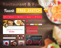 FREE Restaurant & Food UI KIT - Tuank - .Sketch