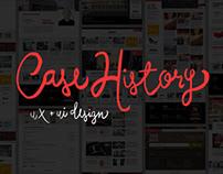 2014-2017 CASE HISTORY - Contesti, Ingaggi, Attività