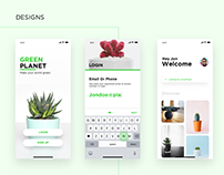 UI/UX Design concept : Green Planet