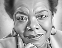Maya Angelou Digital Oil Style Painting by Wayne Flint