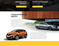 LandingPage for RENAULT dealer