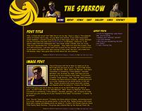 Sparrow Comics Website Mockup