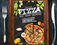 Unique Pizza Flyer Design