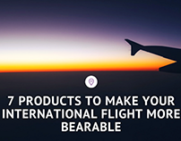 7 Products to Make Your International Flight Bearable