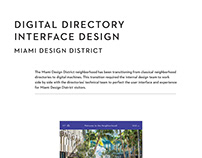 Digital Directory Interface Design