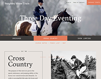 Burghley Horse Trials - Web Redesign
