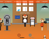 Oxysens - design site internet et illustration