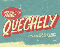 Free Quechely Sign Retro Layered Font