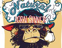 Natural born sinner-T-shirt design