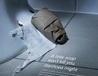 A little soap won't kill you, diarrhoea might.