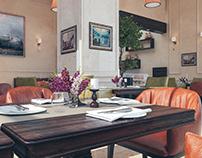 Klasik Kafe İç Mekan Tasarım ve Görselleştirme