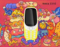 NOKIA 3310 mobile phone packaging 诺基亚合作款包装