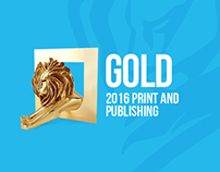 Cannes - Gold - 2016 Print And Publishing