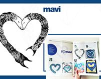 Heart Illustration for Mavi Jeans