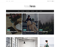 LossLess - Blog PSD Template