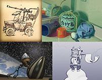 Story + Animation + Sketchbook