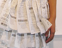 Camouflage Project: Receipt Dress