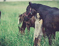 Juliette and horses