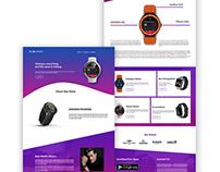 Clock house web UI/UX Design