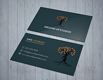 Ground Up Studios Business Card