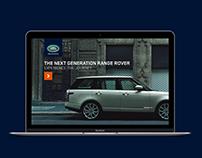 New Range Rover Microsite UX Design