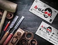 «Art&Cool» разработка логотипа и фирменного стиля