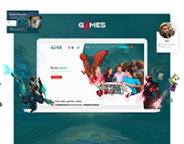"""""""Lets play games"""" website design"""