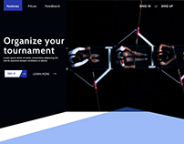 Landing page ( Organize your tournament )