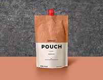 Free Spout Pouch Mockup PSD