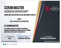 Scrum Institute Official Certified Scrum Master
