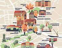 Illustrated city map