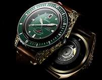 Neptune - Engraved series watches print campaign
