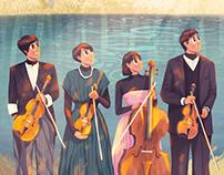 日剧《四重奏》插画カルテット music illustration