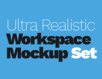 Ultra Realistic Workspace Mockup Set - 3