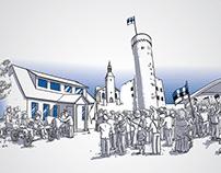 Otepää lipumuuseumi interaktiivsed illustratsioonid