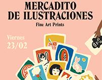 "Poster ""Mercadito de ilustraciones"""