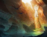 Fantasy landscape : The forgotten temple