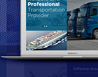 Transportation provider, website design