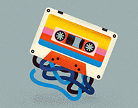 """Series of illustrations and stickers """"90s"""""""