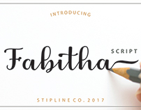 Fabitha Script Upright by Apon Bahrainy
