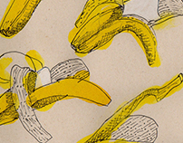 (banano) proceso, comiendo