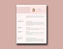 Free Resume Template with Feminine Style