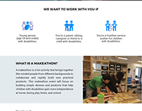 UI Mock Up #thisability Makeathon Landing Page