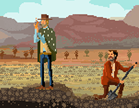 The Good, the Bad, and the Ugly pixel art