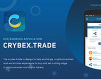 Crybex.Trade android and ios app UI - design